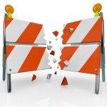 Breaking Through Barricade Roadblock to Freedom